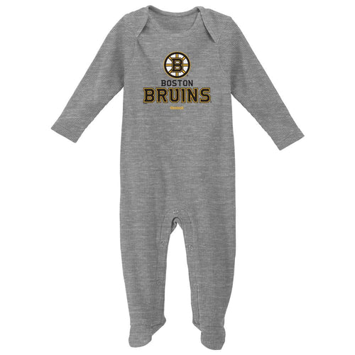 Bruins Hockey Newborn Thermal Coverall