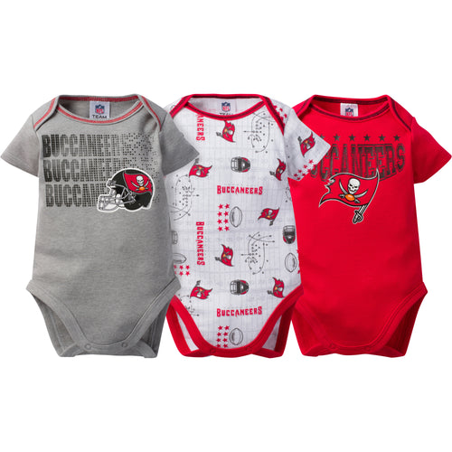 Buccaneers Baby 3 Pack Short Sleeve Onesies