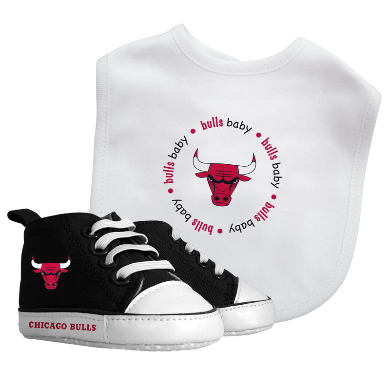 Bulls Baby Bib with Pre-Walking Shoes