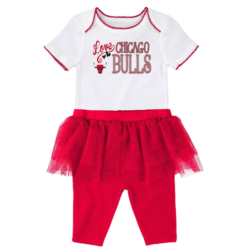 Bulls Baby Girl Creeper and Tutu Leggings
