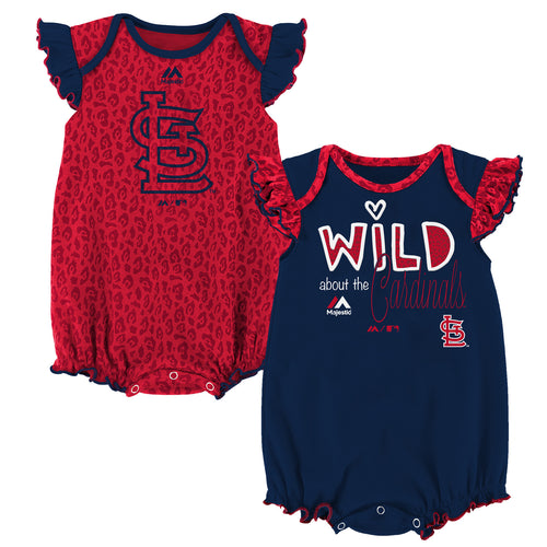 Wild About the Cardinals Onesie Duo