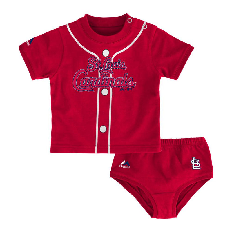Cardinals Little Sports Tee and Baby Diaper Cover