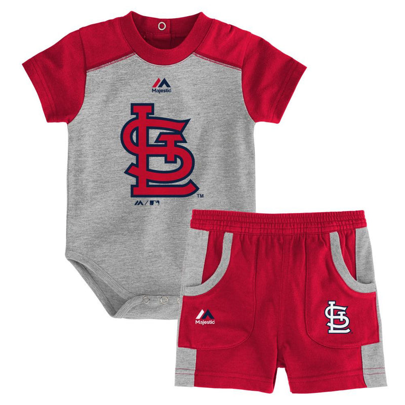 Cardinals Fan Onesie and Short Set