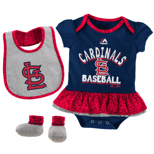 Sweet Cardinals Fan Bodysuit, Bib and bootie