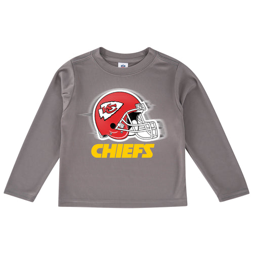 Chiefs Cool Grey Toddler Long Sleeve Logo Tee