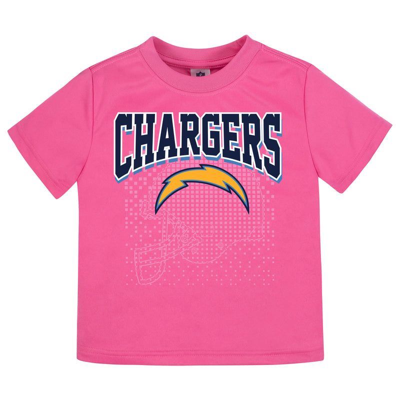 Los Angeles Chargers Girls Short Sleeve Tee Shirt