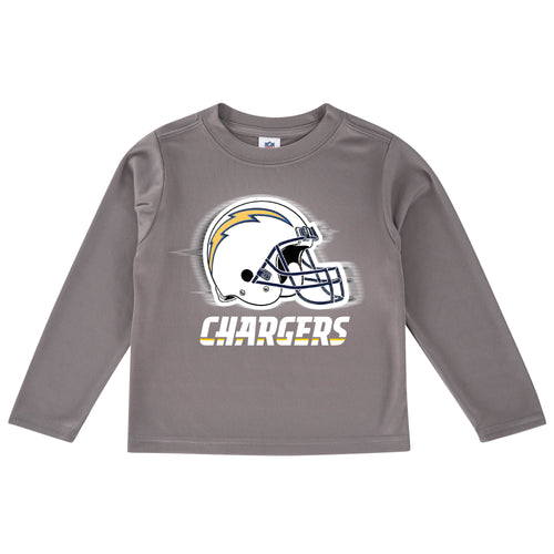Chargers Cool Grey Toddler Long Sleeve Logo Tee