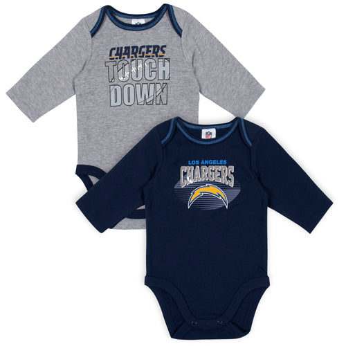 LA Chargers Baby Boy Long Sleeve Bodysuits