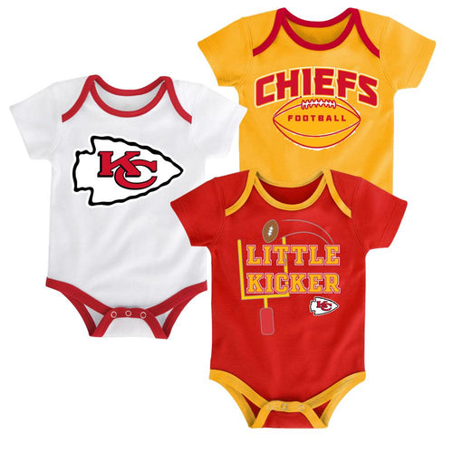 Chiefs Little Kicker Onesie 3-Pack