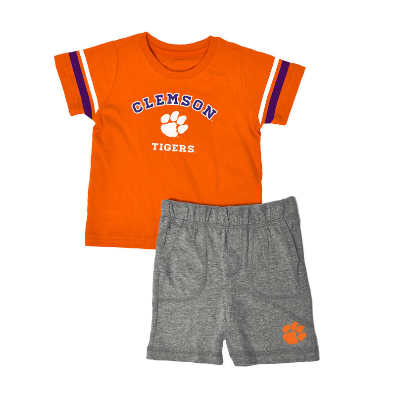 Clemson Knit Tee Shirt and Shorts