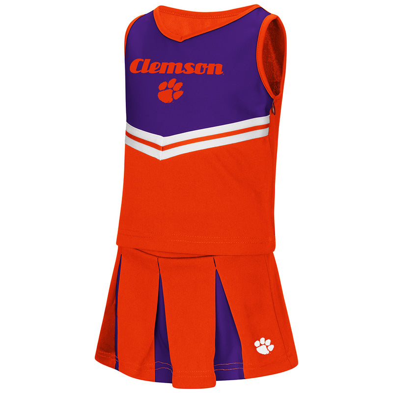 Clemson Pom Pom Toddler Cheerleader Outfit