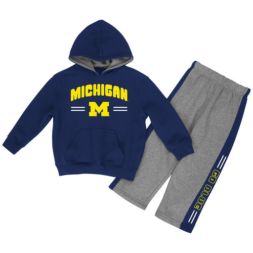 Michigan Infant Boys Punter Fleece Set
