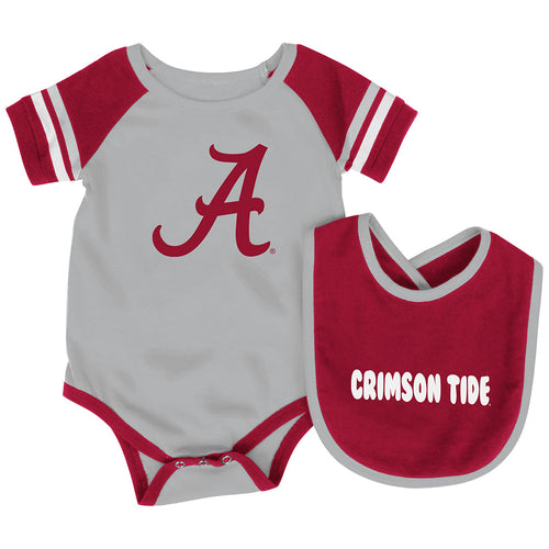 Alabama Baby Roll Out Onesie and Bib Set