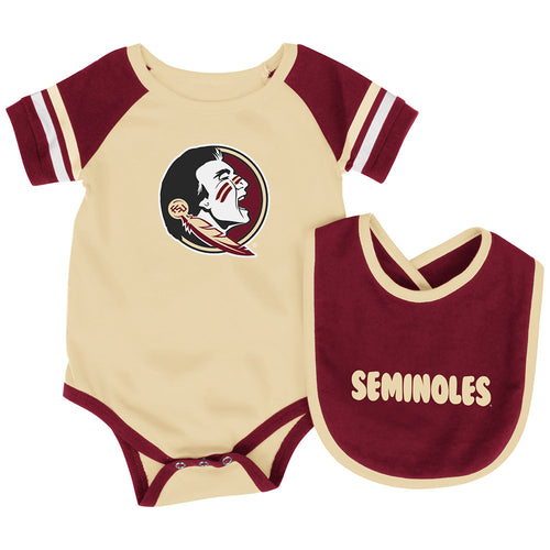 Florida State Baby Roll Out Onesie and Bib Set