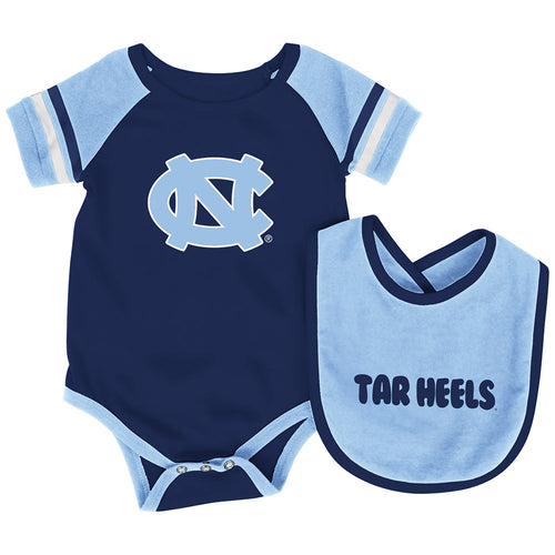 North Carolina Baby Roll Out Onesie and Bib Set