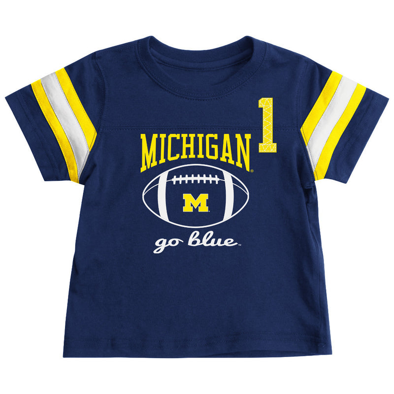Michigan Wolverines Toddler Football Tee