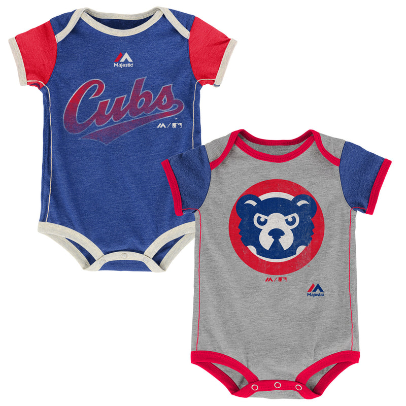Cubs Baby Old School Onesie Duo