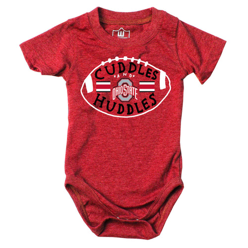 Cuddles and Buckeyes Huddles Baby Bodysuit