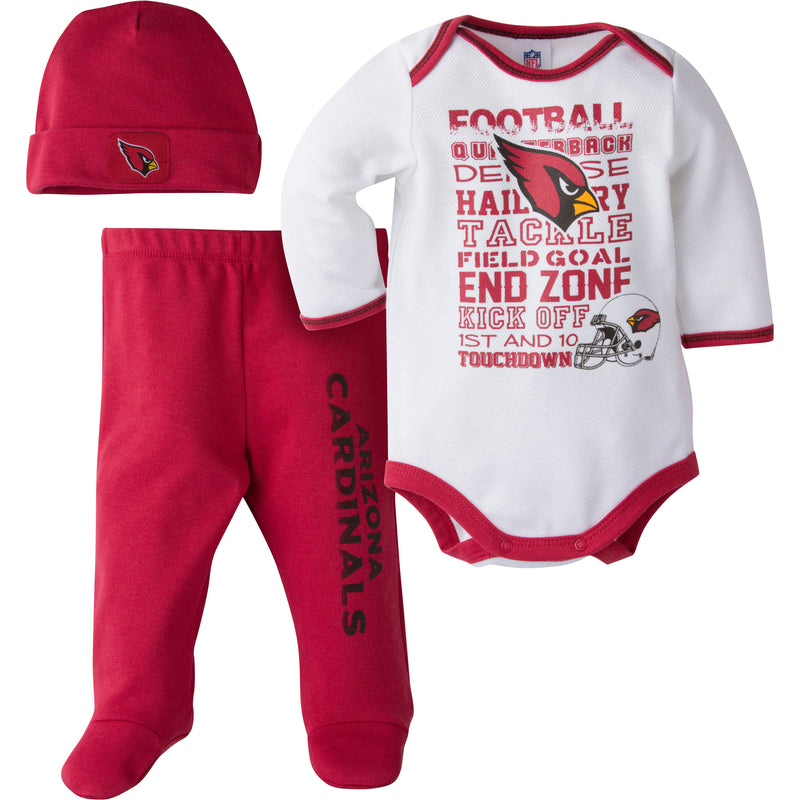 Cardinals Baby 3 Piece Outfit