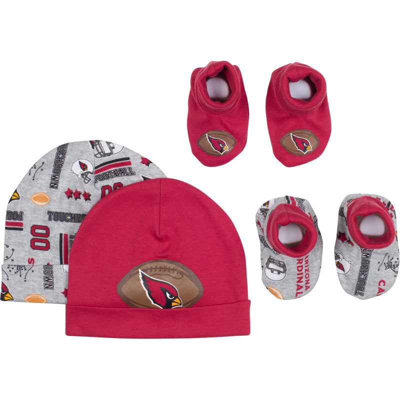 Baby Cardinals Fan Caps & Booties Set