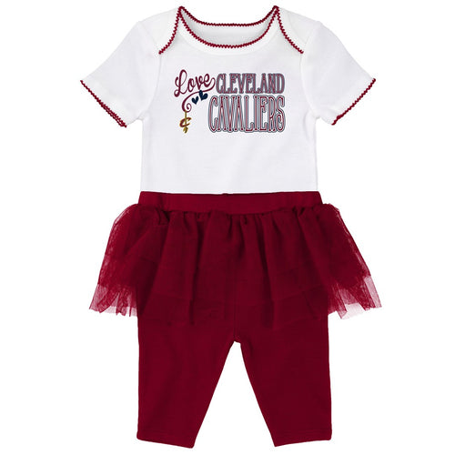 Cavaliers Baby Girl Creeper and Tutu Leggings