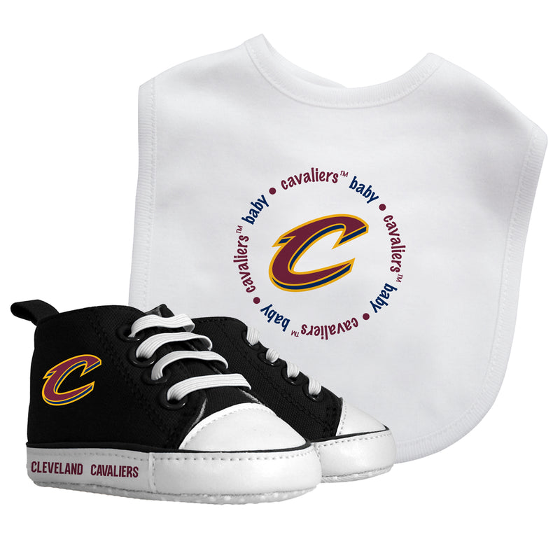 Cavaliers Baby Bib with Pre-Walking Shoes