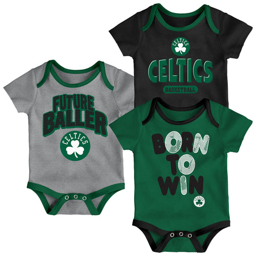 Celtics Future Baller 3-Pack Bodysuit Set 4c2360221