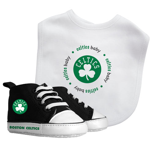 Celtics Baby Bib with Pre-Walking Shoes