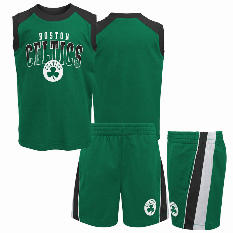 Celtics Basketball Sleeveless Shirt and Shorts Set