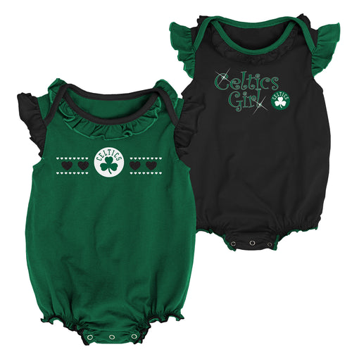 Celtics Baby Girl Duo Bodysuit Set