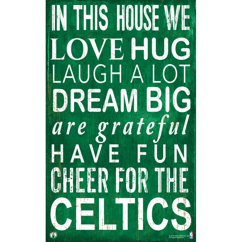 Celtics Baby Nursery Wall Art