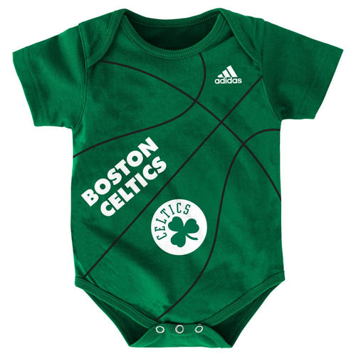 Baby Celtics Fan Basketball Onesie
