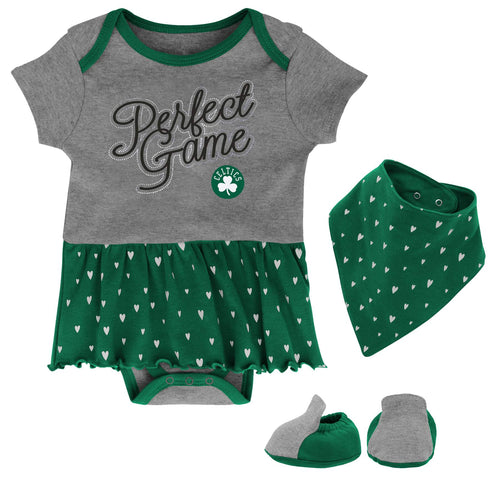 Celtics Girls Bodysuit, Bandana Bib and Bootie Set