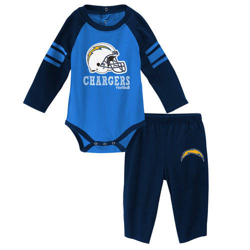 Chargers Long Sleeve Bodysuit and Pants Outfit