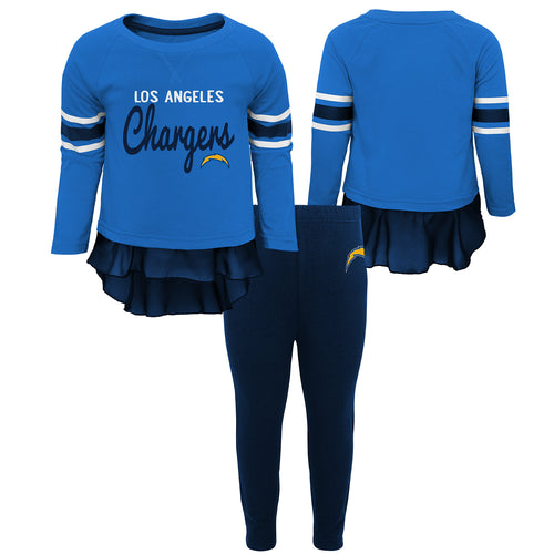 Los Angeles Chargers Girls Tunic and Legging Set