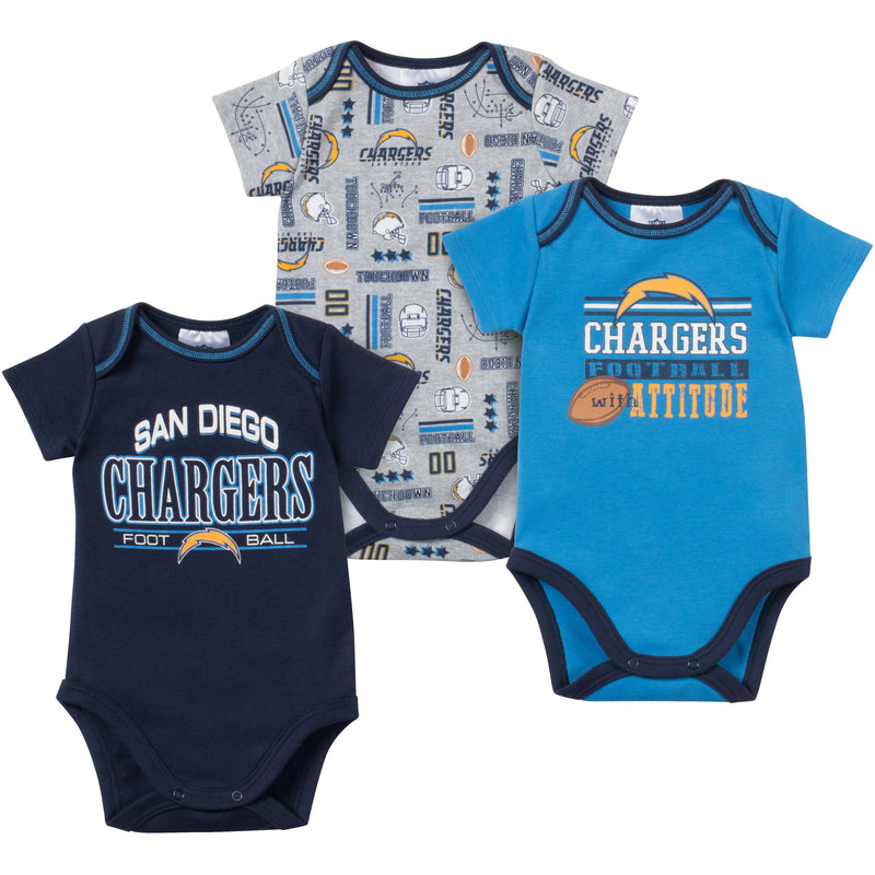 Baby Chargers Fan Onesie 3 Pack