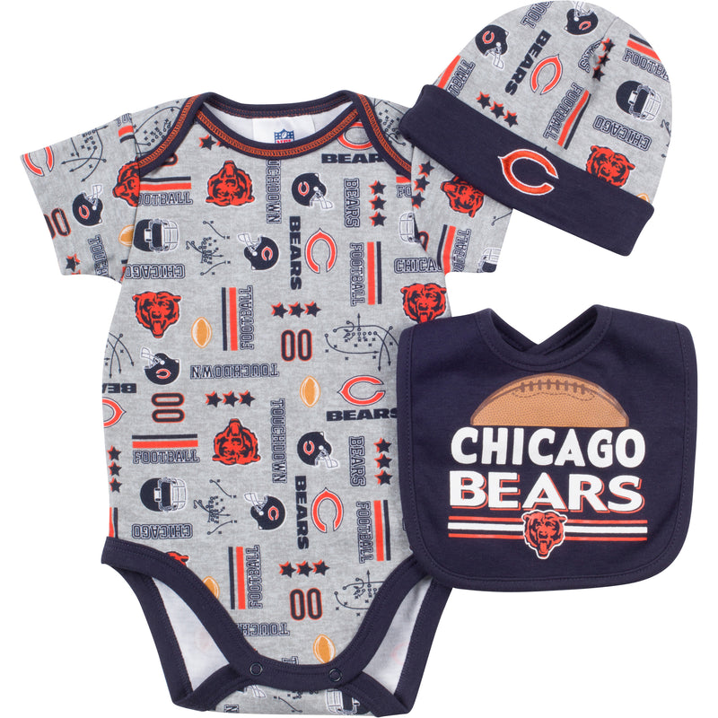 Baby Bears Fan Onesie, Cap and Bib