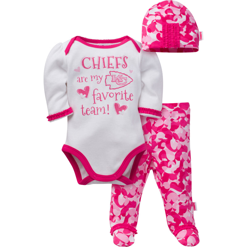 Chiefs Baby Girl 3 Piece Outfit