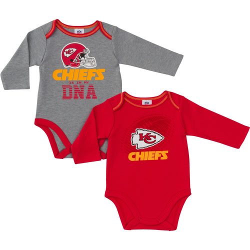 Chiefs Is In My DNA 2 Pack Long Sleeved Onesies