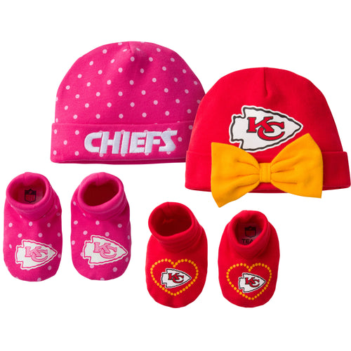 Chiefs Sweetheart Caps and Booties Set