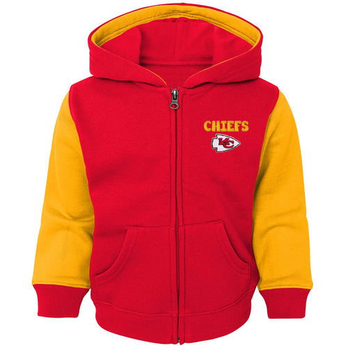 Chiefs Kid Zip Up Hooded Sweatshirt