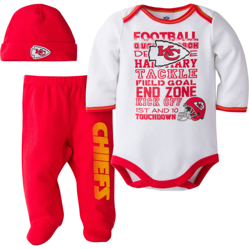 Chiefs Baby 3 Piece Outfit