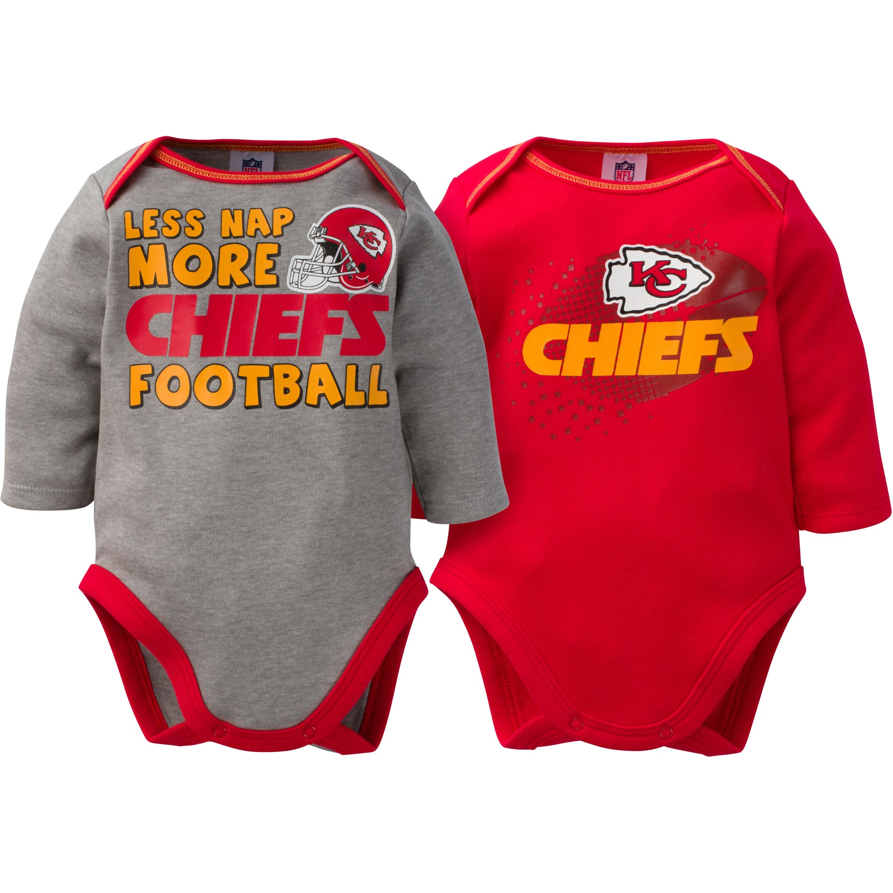 Baby Chiefs Long Sleeve Onesie Two Pack – babyfans 25704617a