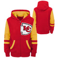 KC Chiefs Zip Up Sweatshirt
