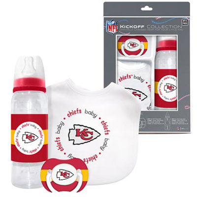 Chiefs Pacifier, Bib and Bottle Set