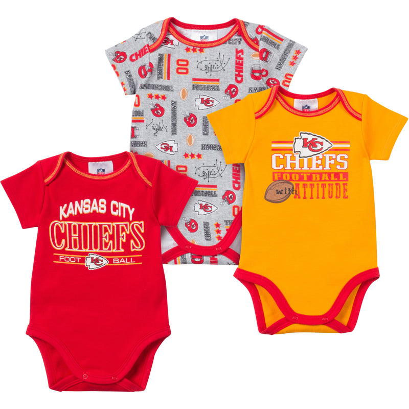 Baby Chiefs Fan Onesie 3 Pack