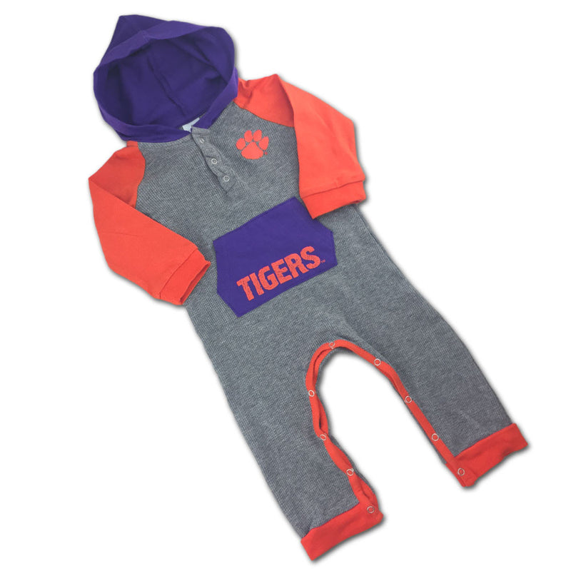 Clemson Thermal Hooded Romper