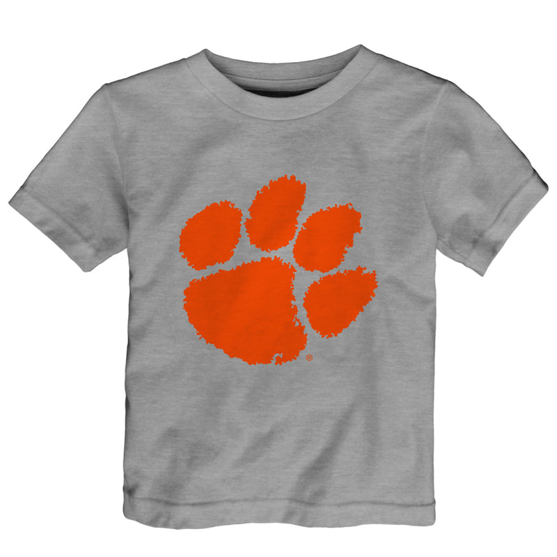 Clemson Gray Team Logo Tee