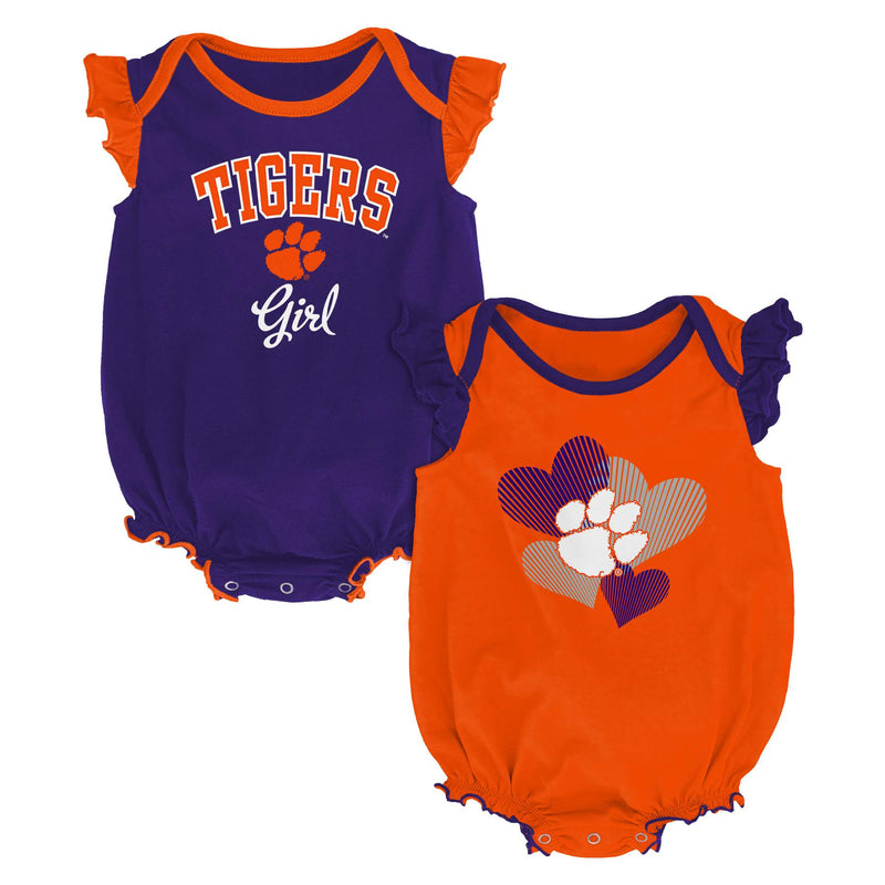 Clemson Ruffled Bodysuit Set