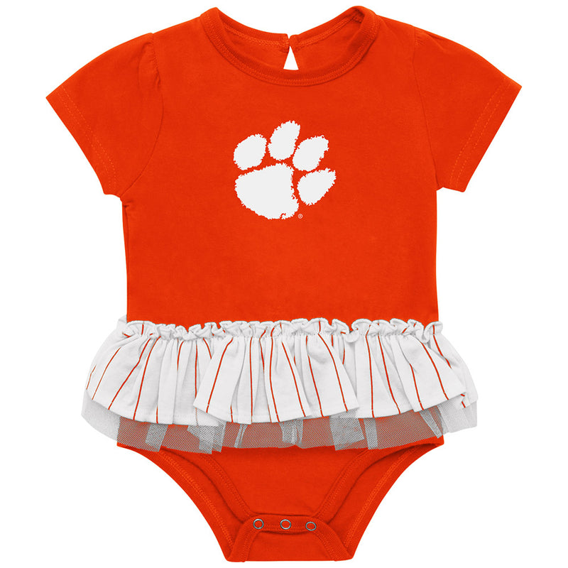 Clemson Girl Baseball Bodysuit